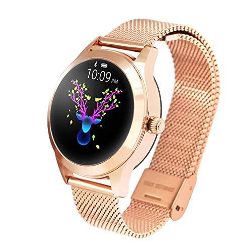 SVUZU Reloj Inteligente Mujer Impermeable IP68 Monitor de Ritmo cardíaco Pulsera Inteligente Rastreador de Ejercicios Reloj Inteligente Deportivo (Color: A)