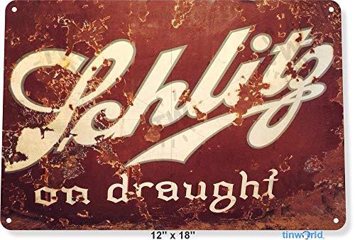 Unoopler 12' x 16' TIN Sign Schlitz Drought Beer Metal Art Store Pub Brew Shop Bar Pub A602