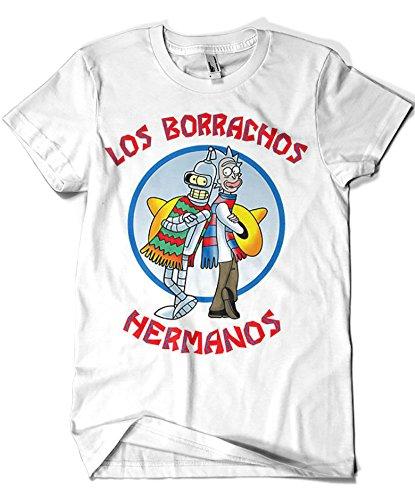 1594-Camiseta Premium, Los Borrachos Hermanos (Legendary P,)