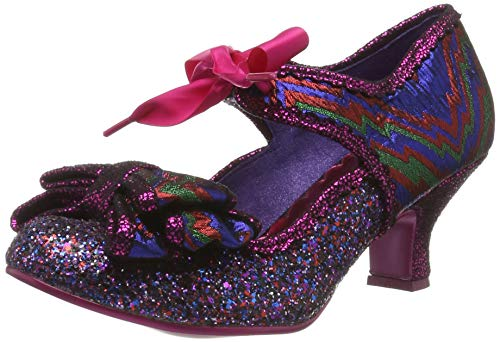 Poetic Licence by Irregular Choice Apple Spice, Mary Jane Donna, (Pink Grey), 3.5 EU