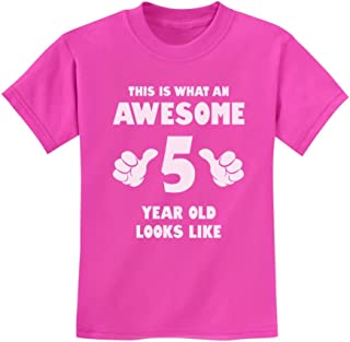 This is What an Awesome 5 Year Old Looks Like Funny Birthday Kids T-Shirt