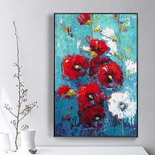 Impressionisme bloem olieverfschilderij canvas kunst geschenk decoratie woonkamer muurkunst frameloos schilderwerk