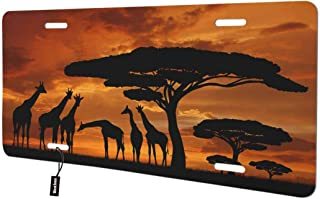 Beabes African Forest Giraffe Front License Plate Cover,Big