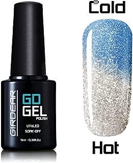Girdear Thermal Temperature Color Changing Gel Nail Polish Soak Off UV LED Nail Lacquer #5746