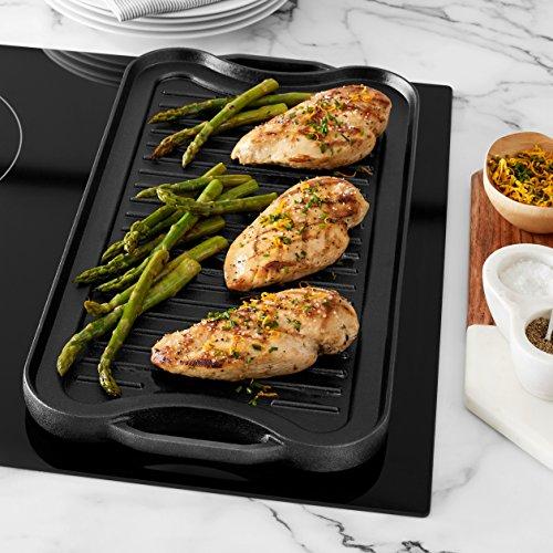 Amazon Basics Pre-Seasoned Cast Iron Reversible Grill/Griddle