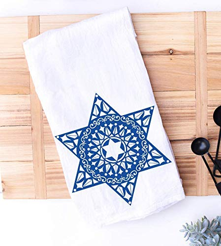 Star of David Kitchen Towel   Jewish Kitchen Decor   Housewarming New Home Hostess Gift   Passover   Hanukkah   Shabbat Challah Proofing