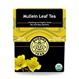 Buddha Teas Organic Mullein Leaf Tea | 18 Tea Bags | Made in the US | No Caffeine