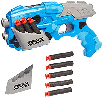 Galactic Alien Photon Blaster – Pretend Play Toy Dart Gun For Kids 8 Suction Cup Foam Darts and Wall Target NERF Dart Compatible – Maxx Action
