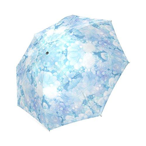 おしゃれ 折りたたみ傘 3段 折畳み 晴雨兼用 かわいい 紫陽花の背景 手動開閉 携帯用 三つ折り畳み レディース 子供 かさ