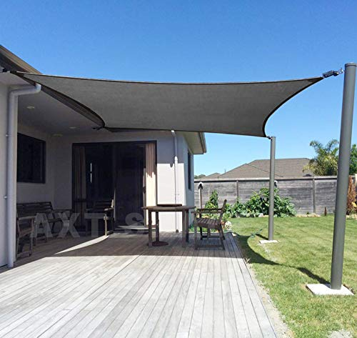 AXT SHADE Sonnensegel Rechteck 2x3m,atmungsaktiv Sonnenschutz HDPE mit UV Schutz für Terrasse, Balkon und Garten- Graphit