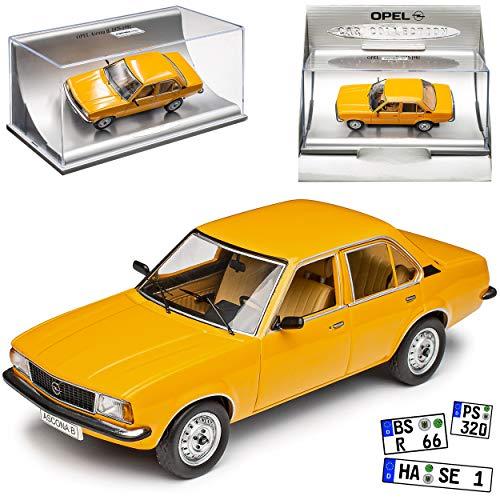 Opel Ascona B Limousine Orange Gelb 1975-1981 1/43 Schuco Modell Auto Modell Auto