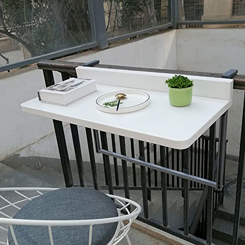 hanging table Window Sill Folding Table, Adjustable Wall-Mounted Balcony Bar Table, Coffee Patio Garden Dining Room Furniture Desk (Size : 120 * 40cm)