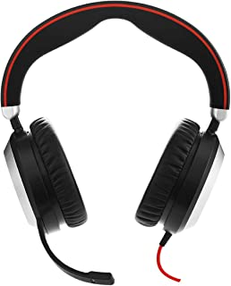 Jabra 7899-823-109 Evolve 80 MS USB-A Stereo Corded Headset,Black