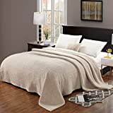 CozyBliss Large Thick Flannel Fleece Throw Blanket for Bedding & Sofa Couch |