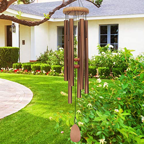 Noble House Wind Chimes with Big Deep Tone,42' Tuned Wind Chimes, Large Wind Chimes with Deep Tone,Both Indoor Decor and Outdoor Decor in Your Garden,Porch, Backyard and Patio (Bronze)