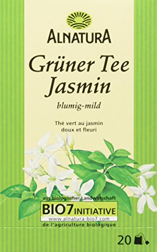 Alnatura Bio Grüntee Jasmin, 20 Beutel, 6er Pack (6 x 30 g)