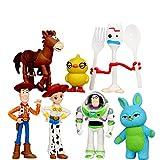 7 Piezas Toy Story 4 Figuras De Acción Juguetes Woody Jessie Buzz Lightyear Forky Cerdo Oso Figura M...