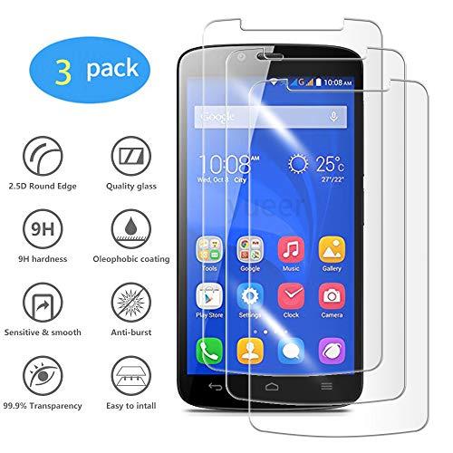 [3 Pack Panzerglas Schutzfolie für Huawei Honor Holly,[Anti- Kratzer] [Ultra Clear] Panzerglasfolie Displayschutzfolie Folie für Huawei Honor Holly.