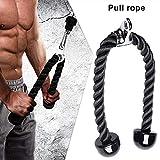 Xihaoer - Cuerda para tríceps de nailon con cordón para bíceps con cordón para tríceps, bíceps, espalda, hombro, negro