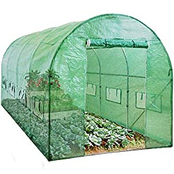 Best Choice Products SKY1917 15x7x7ft Portable Large Walk in Tunnel Garden Plant Greenhouse Tent, 15' x 7' x 7'
