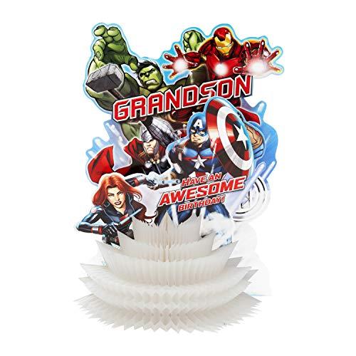 Hallmark 3D-Skulptur-Geburtstagskarte für Enkel von Hallmark – Marvel Avengers Paper Wow Design