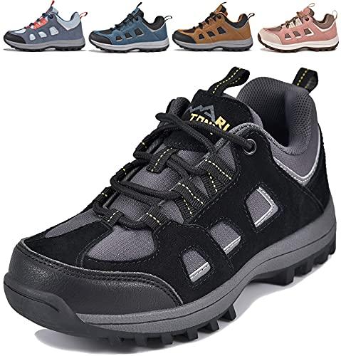 MARITONY Kinderschuhe Jungen Mädchen Kinder Schuhe Wanderschuhe Trekkingschuhe Sportschuhe Laufschuhe Turnschuhe Sneaker, Schwarz Grau 29 EU