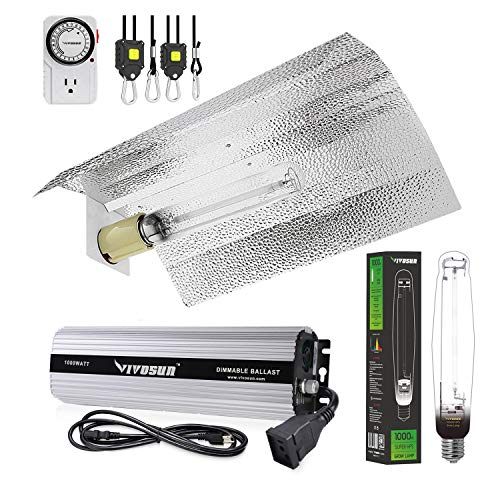 VIVOSUN 1000 Watt HPS Grow Light Gull Wing Reflector Kit - Easy to Set up, High Stability & Compatibility (Enhanced Version)