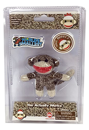Worlds Smallest Sock Monkey Doll Miniature Edition-...