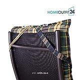 Homeoutfit24 Sun Garden 4-Stück Gartenstuhl-Auflage - 5