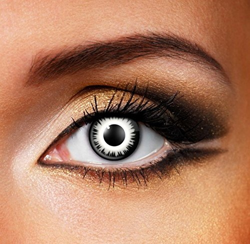 Funky Vision Kontaktlinsen - 12 Monatslinsen, Luna Eclipse, Ohne Sehstärke, 1 Stück