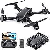 Tomzon D30 GPS Drohne mit 4K Kamera, 5G FPV Drohne, Faltbarer Drohne, Optischer Flusspositionierung, Kreisfliege, Flug, Alarm bei schwacher Batterie für Innen und Außen