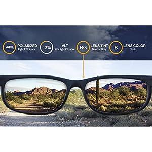 IKON Polarized Replacement Lenses For Maui Jim Legacy MJ-183 Sunglasses - Black