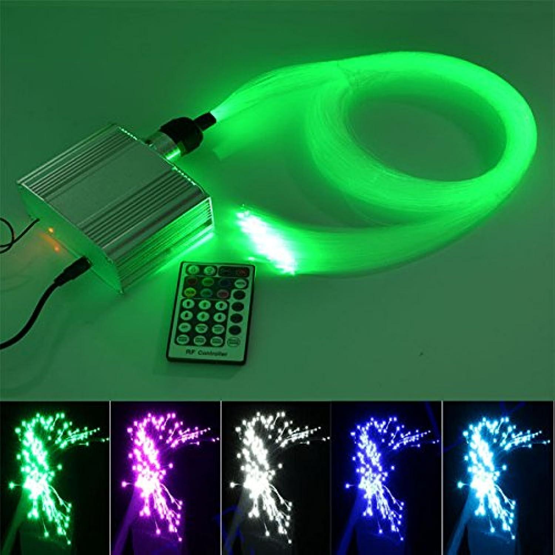 Kingmaled, 10W, RGBW, Funken-Faser-Optik, Sterne, Licht-Set für die Decke, RGBW, LED-Betrieb, Treiber, mit Fernbedienung mit 28 Tasten, Kabel, wei, 200pcs0.03in6.5ft 10.00watts 12.00volts