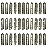 BEETEST 100 piezas Reemplazo del metal cordón zapato Cordones herrete cabeza acetatos punta Plata