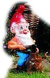 Zwerg als Holzfäller, 32 cm, Gartenzwerg, Kunststoff