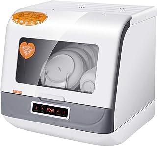 Mini lavavajillas de escritorio 3 modos 4 juegos de utensilios Esterilización a alta temperatura Agua de lavado suave Potencia: 900W Consumo de agua: 5L Armario de almacenamiento multifuncional Blan