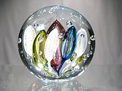 Murano Exclusivité Cristal Art & Deco - Prensa de papel planeta celeste multicolor 9 cm