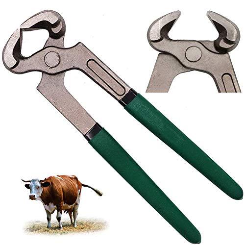 WU Hufbeschlag Zange, 20 cm Hufzange Hufpflege Klauenpflege Hufschmied Trimmwerkzeug Geeignet für die Hufreparatur von Rindern, Pferden und Schafen
