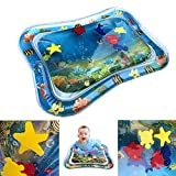 GETKO WITH DEVICE Inflatable Tummy Time Leakproof, Fun Activity Indoor and Outdoor Water Play Mat for Baby (Blue)