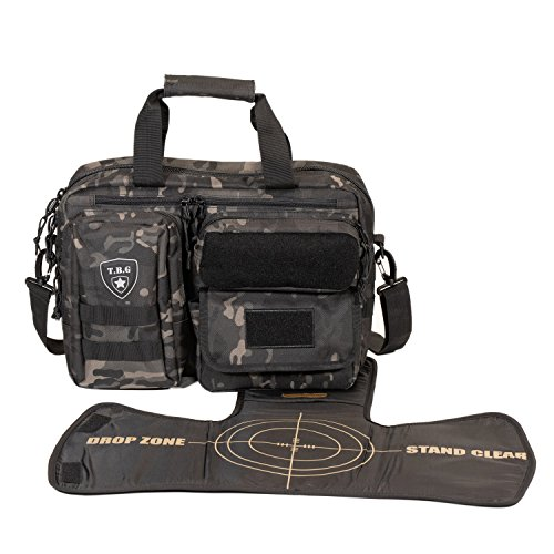 Tactical Baby Gear Deuce 2.0 Tactical Diaper Bag with Changing Mat (Black Camo)
