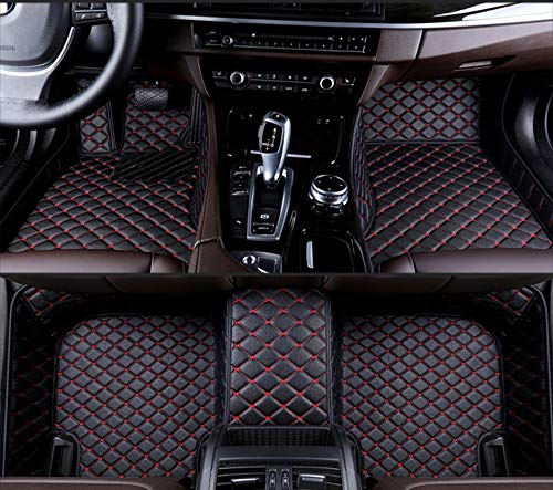 Juego De Alfombrillas para Coche, para Hyundai Matrix 5 Seats 2005, Alfombrillas De Piel SintéTica, Alfombrillas Delanteras Y Traseras Impermeables Antideslizantes