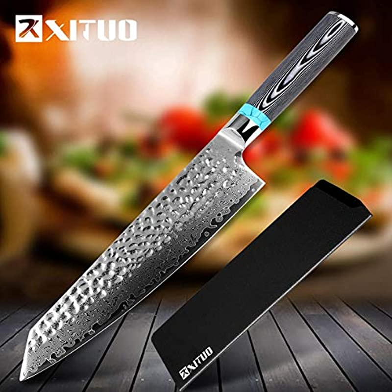 Best Quality Kitchen Knives New Damascus Chef Knife 8 Inch 67 Layers Japanese VG10 Blade Chef Kitchen Knife Super Sharp Cooking Tool Gift