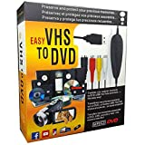 VHS to Digital DVD Converter Adapter for Win 10 MAC, Video Audio Capture