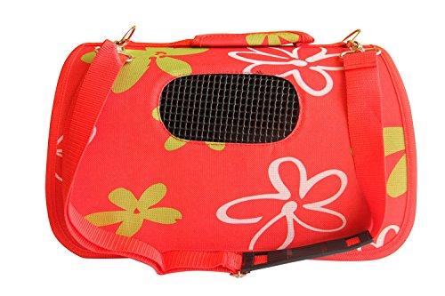 BPS (R) Trasportino, Borsa di tela per cane, gatto, animali domestici, animali, dimensioni: L, 43,5x 25x 25cm rosso rosso