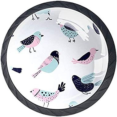 Colorful Doodle Bird Estilo magnífico gabinete de cerámica perillas Tire manijas para Muebles Armario cajón Armario Cocina ba