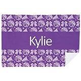 Personalized Cheerleading Premium Blanket | Cheer Stripe | Purple