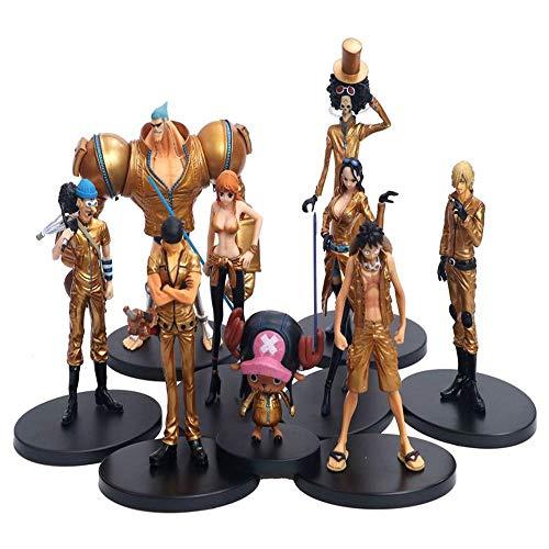 ONE Piece Film Gold 9 Animierte Figur, Figuren Set Statue Ornamente Animierte Figur Toy Collection 8-22CM