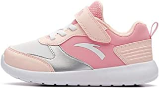 MTSL Children's Shoes Autumn and Winter, Running Shoes, Leather Girls Velcro Children's Sports Shoes
