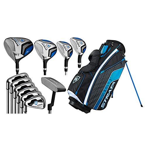 Callaway Golf Men's Strata Ultimate Complete Golf Set (16-Piece, Left Hand, Steel) Blue -  4PKL190816067