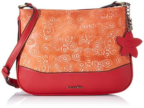 Laura Vita Damen 3408 Umhängetasche Orange (Rouge)